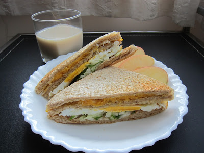 10分鐘完成!! 快速又健康的「全麥地瓜泥三明治」