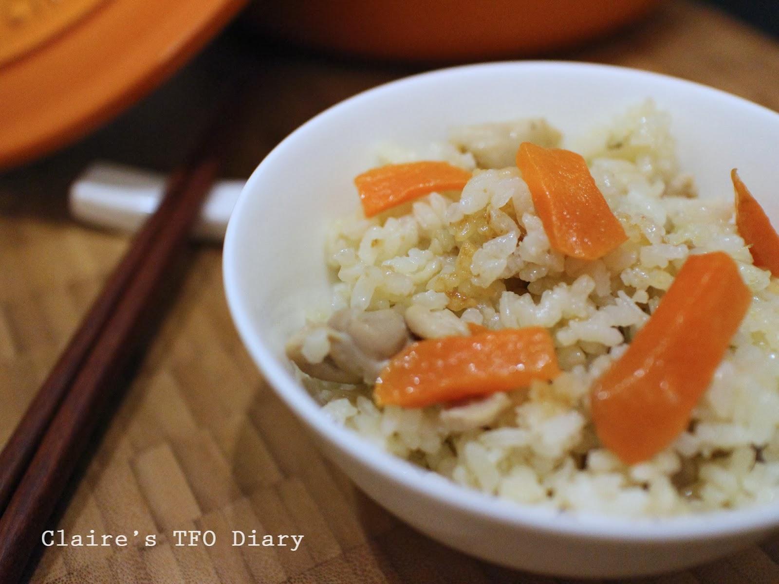 清冰箱料理之LC鍋煮高麗菜雞肉炊飯