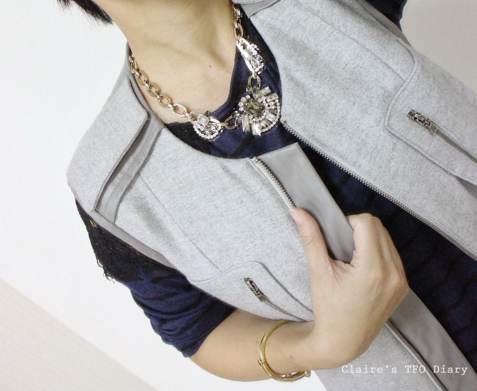 灰色外套 / Gray Sleeveless Coat