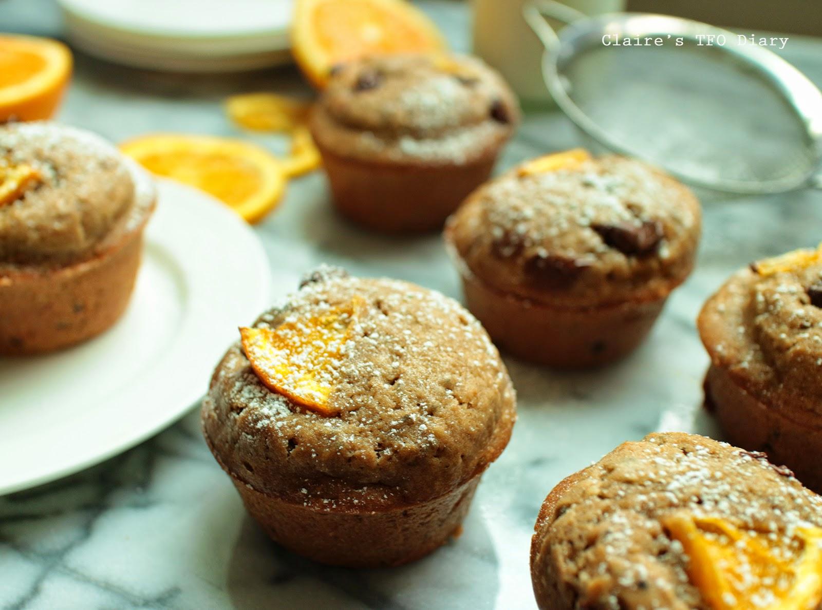 周日下午的小確幸 – 巧克力橙香奇亞籽馬芬 (使用橄欖油)