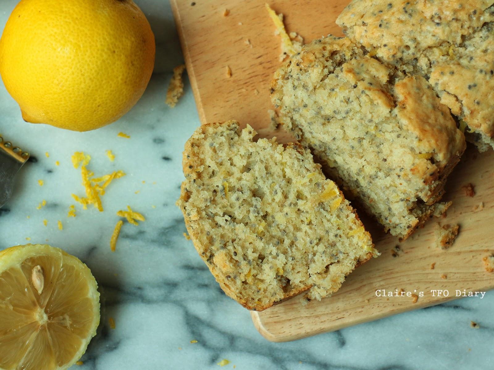 夏天來點清爽微酸的口味 – 檸檬奇亞籽偽磅蛋糕