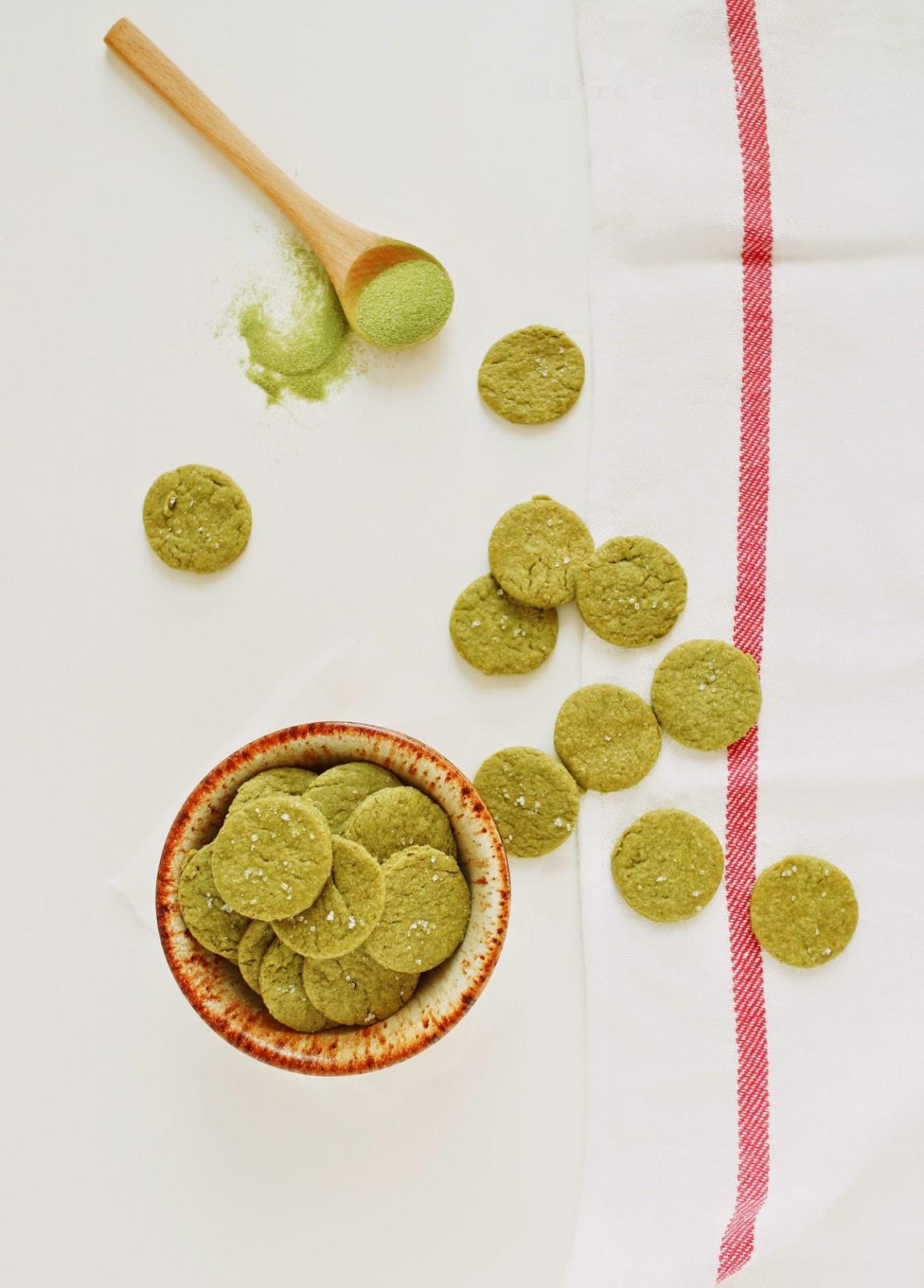 抹茶小圓餅 (使用植物油+豆漿)