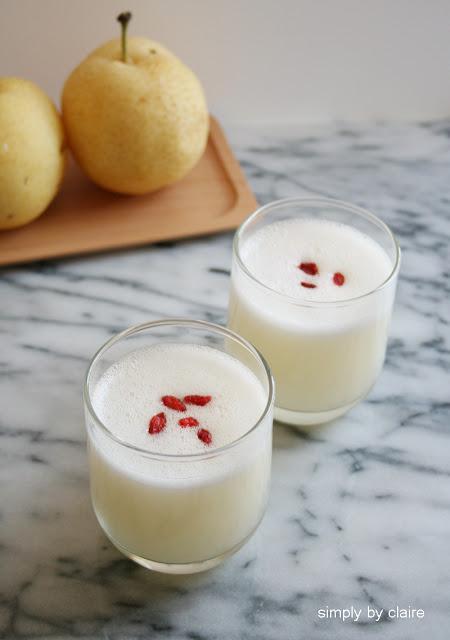 【果汁機食譜】水梨白木耳汁,秋日養生兼補充膠原蛋白